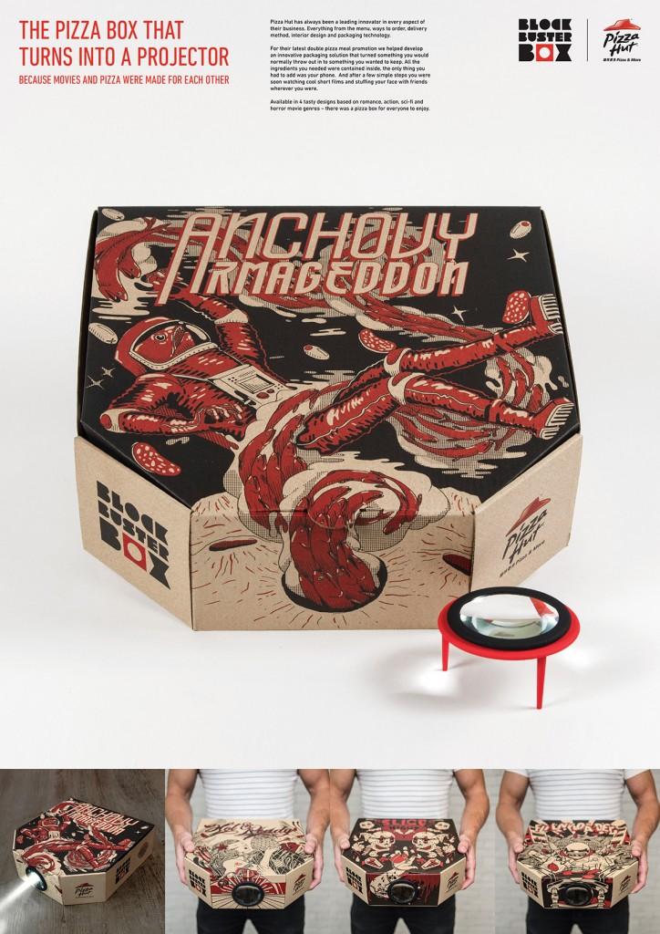 pizzahut box projector 2